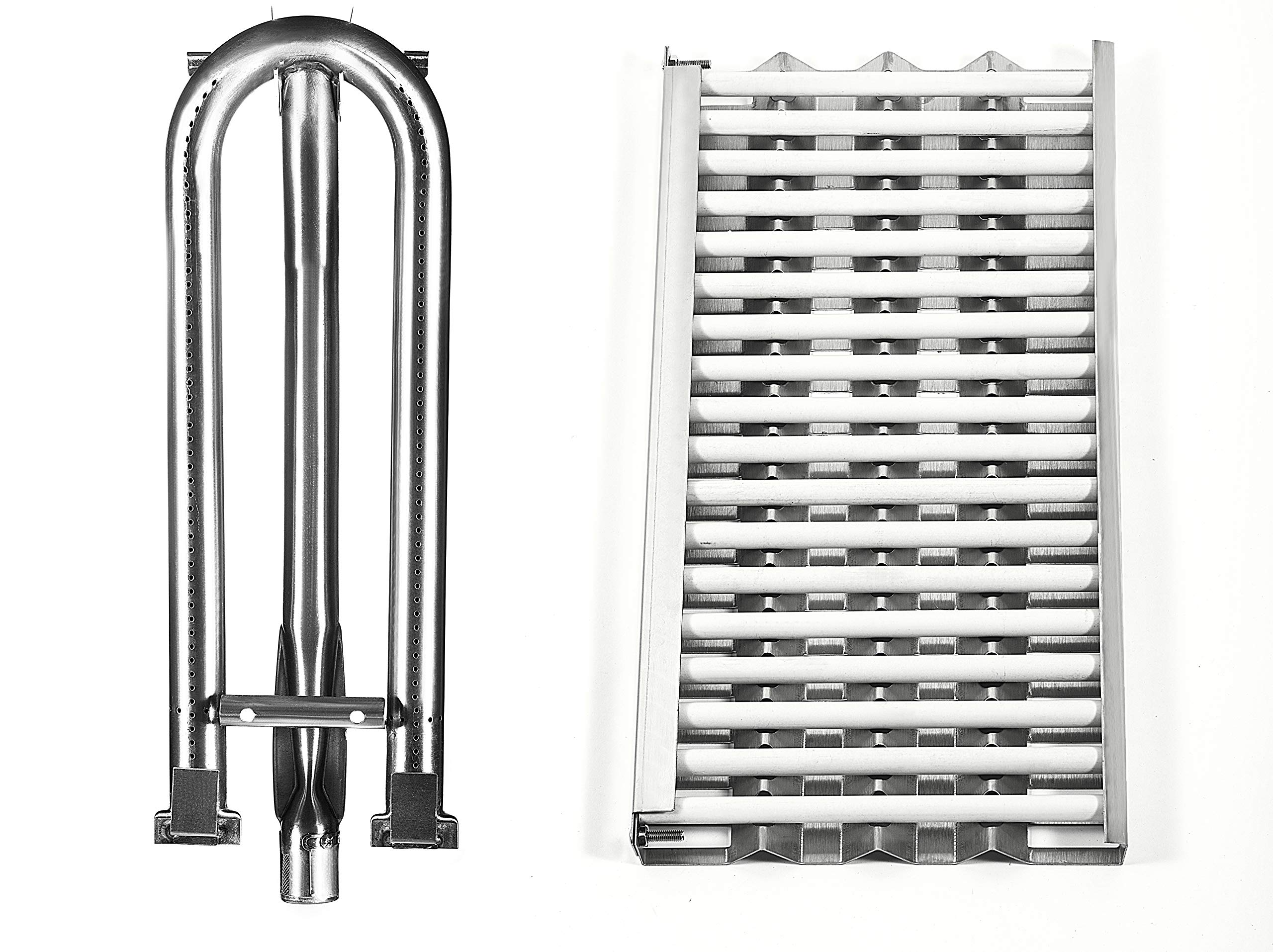 Replace parts Replacement for DCS 27 Series, 27DBQ, 27DSBQ, BGA36-BQAR, BGA36-BQARL, 30/36 / 48 Inch Gas Grill Models (Heat Plates with 18 Ceramic Rods & Burner) by Replace parts