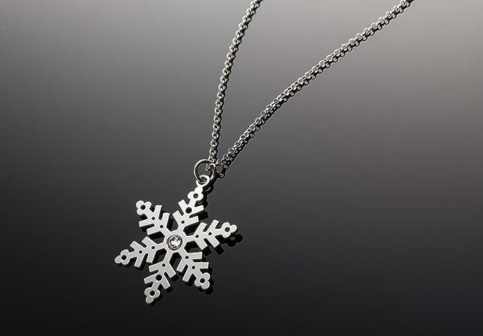9dcc848395b1 AKA Joyas - Collar Mujer con Colgante Copo de Nieve y Cristal Swarovski en  Plata de Ley 925