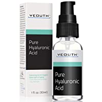 Hyaluronic Acid Serum for Face by YEOUTH - 100% Pure Clinical Strength Anti Aging...