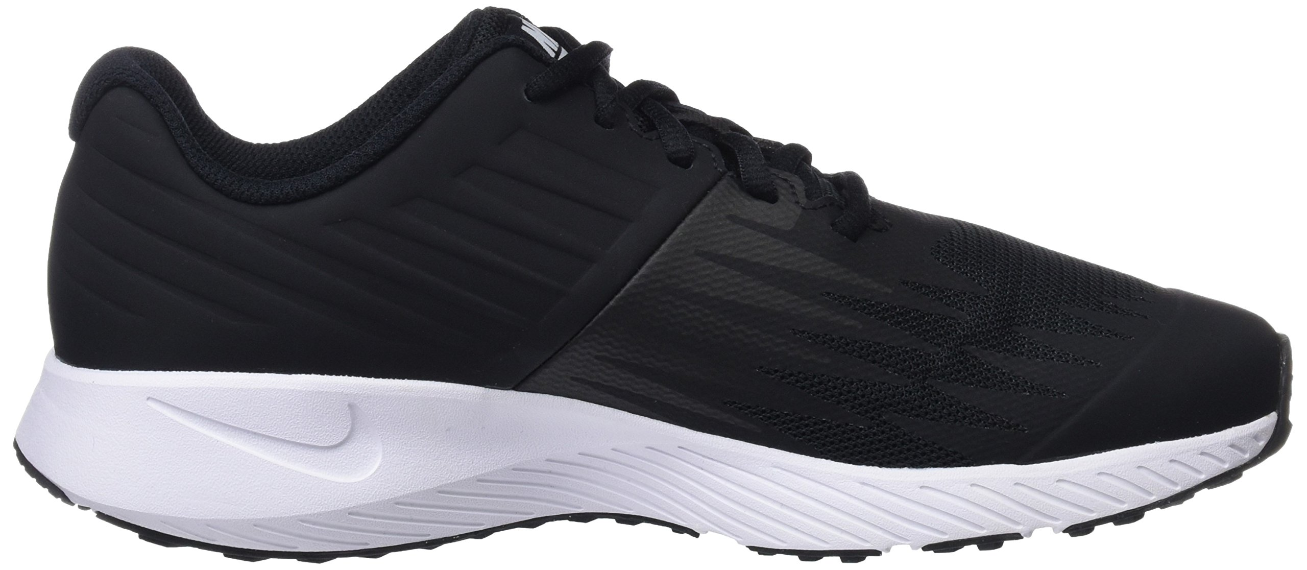 Nike Kids' Grade School Star Runner Running Shoes (3.5, Black/White) by Nike (Image #6)