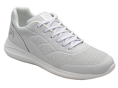 Women's Bowling Henselite Ladies HL70 Ultra-Lightweight Lawn Bowling Shoes White/Grey