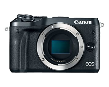 Canon EOS M6 Body (Black) Digital SLRs at amazon