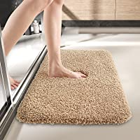 DEXI Bathroom Rug Mat, 24x16, Extra Soft and Absorbent Bath Rugs, Machine Wash Dry, Non-Slip Carpet Mat for Tub, Shower…