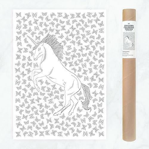 Coloriage Geant Licorne.50x70cm Licorne Adulte Coloriage Geant Livre Coloriage Adulte