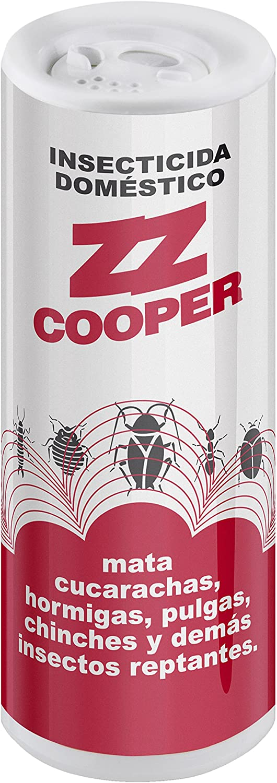 ZZ Cooper| Insecticida en Polvo| Entorno Doméstico |Eficaz Contra Todo Tipo Insectos Reptantes| Sistema de Aplicación en Talquera| Contenido 200 gr