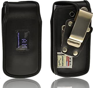 product image for Turtleback Heavy Duty Black Leather Case for LG Wine III 3 UN530 with Rotating Belt Clip - Made in USA