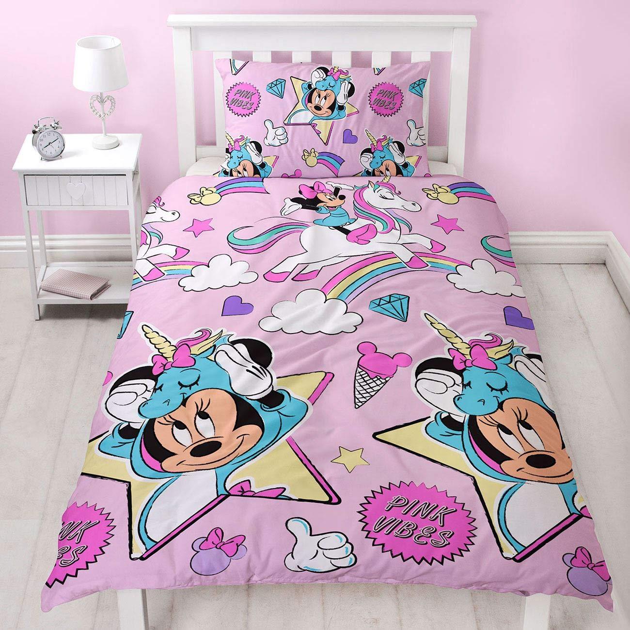 Minnie Mouse Unicorns Single / Twin Duvet Cover and Pillowcase Set