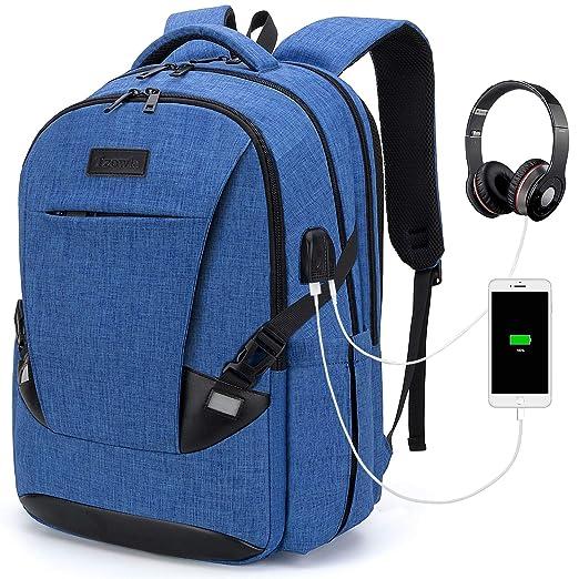 Waterproof Business Work School College Bag Daypack with USB Charging&Headphone Port