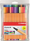 Stabilo Pens Item 8830-1 Point 88-Fine Point-30 Color Wallet of Coloring Pens/Fineline Markers-Includes 30 Unique Colors