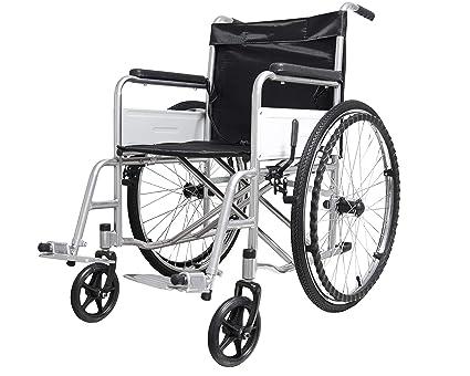 Carrozzina sedia a rotelle ad autospinta pieghevole per anziani