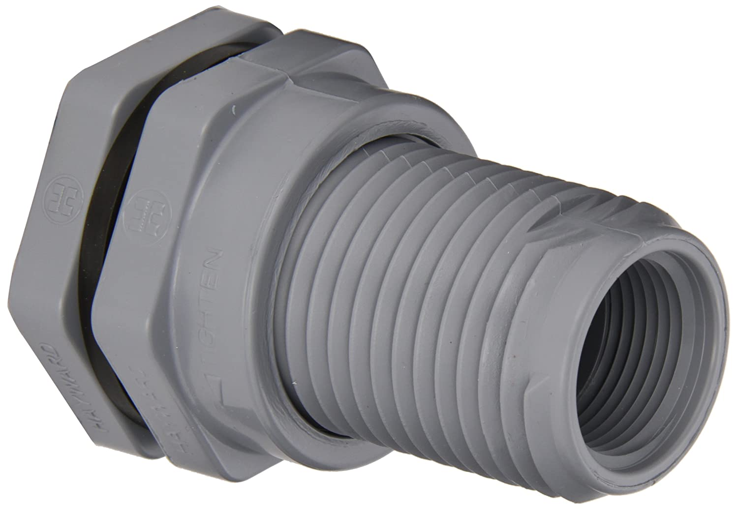 1 Size 1 Size Hayward Industries Inc. Threaded x Threaded End Hayward BFA2010TFS Series BFA Standard Flange Bulkhead Fitting CPVC with FPM Seals