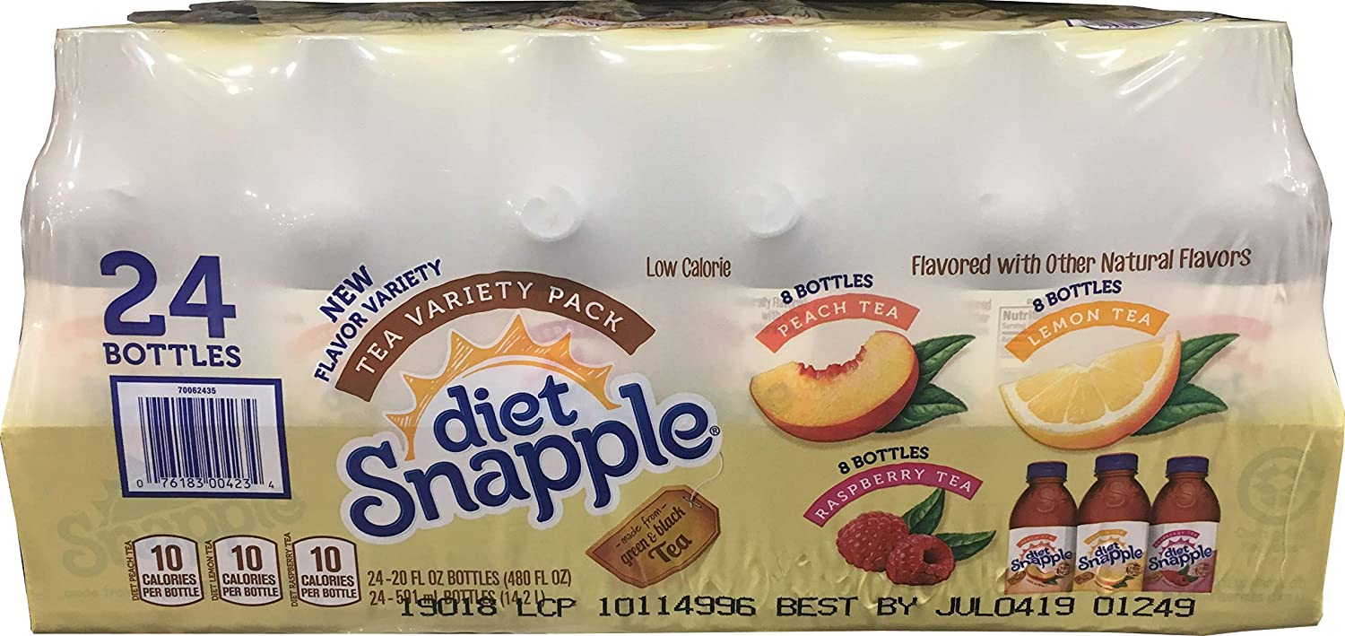 Snapple Diet Iced Tea Variety Pack, 480 Fl. Oz.