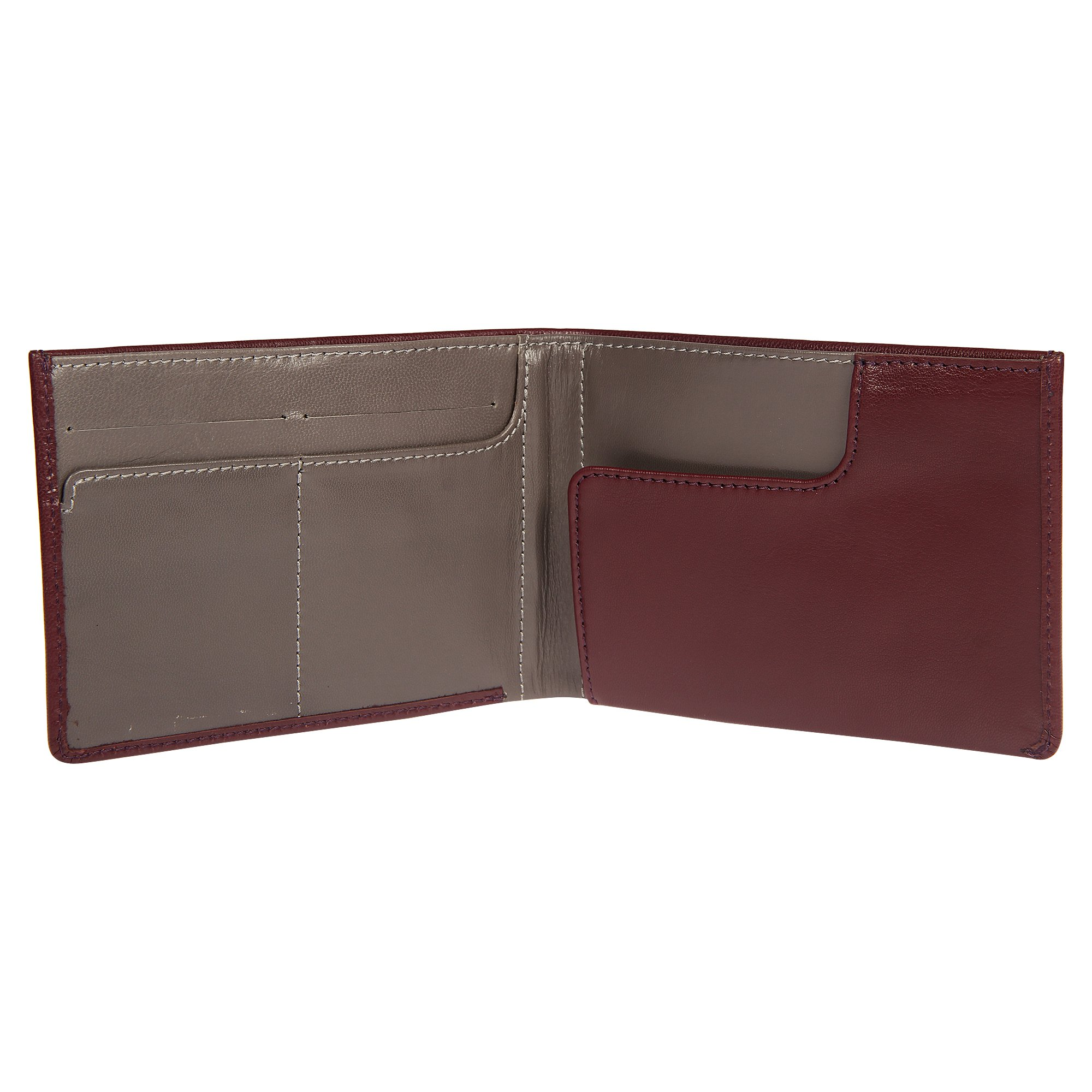 Genuine Sheep Leather RFID Blocking Travel Wallet & Passport Holder for Men and Women - Mocha