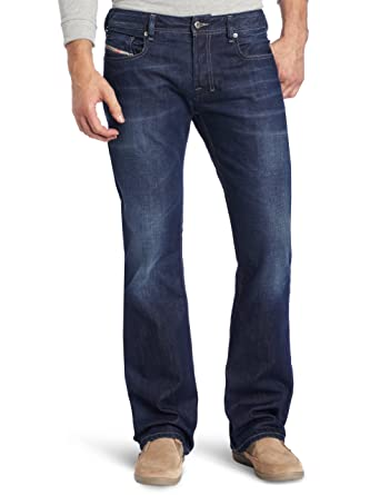 50b9ac7b001 Amazon.com  Diesel Men s Zatiny Slim Micro-Bootcut Jean 0802D  Clothing