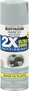 Rust-Oleum 327900 American Accents Spray Paint, 12 Oz, Gloss Winter Gray
