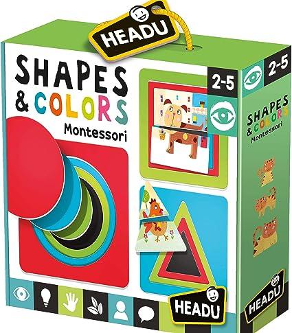 Headu Mu24780 - Shapes & Colors Montessori Merchandising Ufficiale: Amazon.es: Oficina y papelería