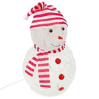 Weihnachtsdeko Aussen Schneemann.Nipach Gmbh Schneemann Acryl 20 Led Weiß Weihnachtsbeleuchtung 32 Cm Höhe Batterie Außen Deko Transparentes Kabel Beleuchtet Weihnachtsdeko Xmas