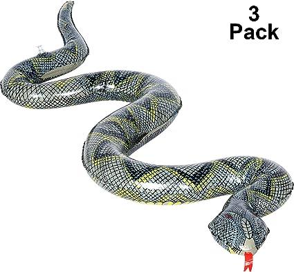 Amazon.com: Zhehao - Serpientes hinchables de miedo, juguete ...