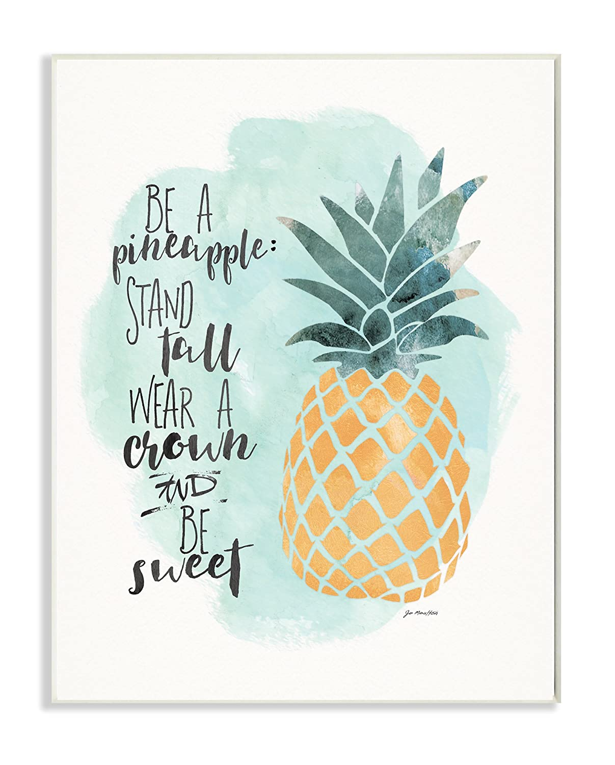 Amazon.com: Stupell Home Décor Be a Pineapple Illustration ...