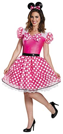 196a43b7705a Amazon.com: Pink Minnie Mouse Glam Adult Costume - X-Large: Clothing