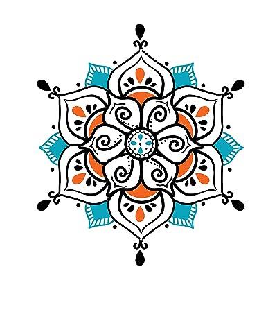 Amazon.com: Tatuajes temporales de yoga con mandala grande ...