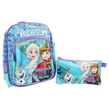bd563b9cdd1f7 Disney Frozen Rucksack + Federmappe 1 Reißverschluss für den Kindergarten  Freizeit