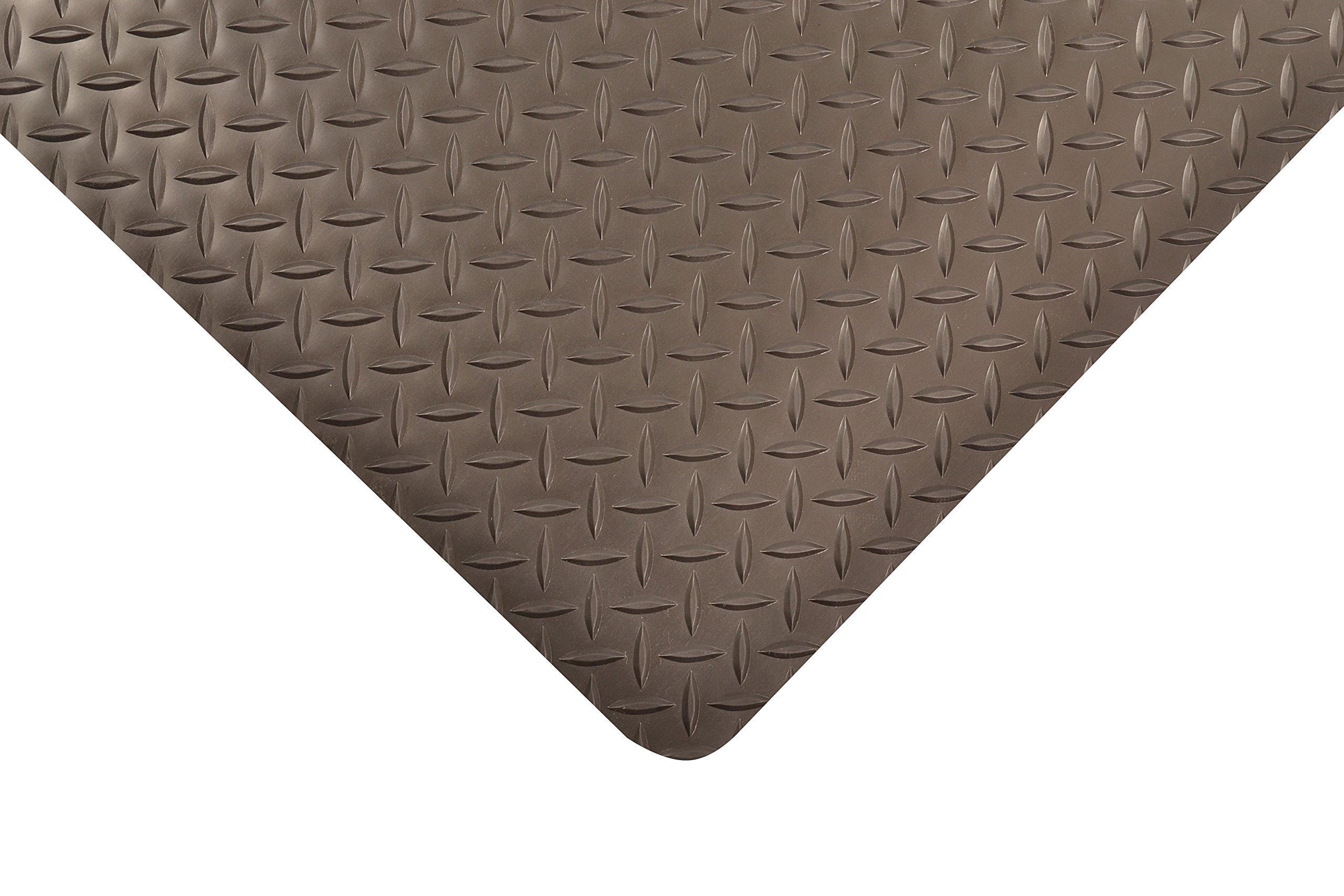 NoTrax Vinyl 479 Cushion Trax Anti-Fatigue Mat, for Heavy-Traffic Dry Areas, 2' Width x 3' Length x 9/16'' Thickness, Black