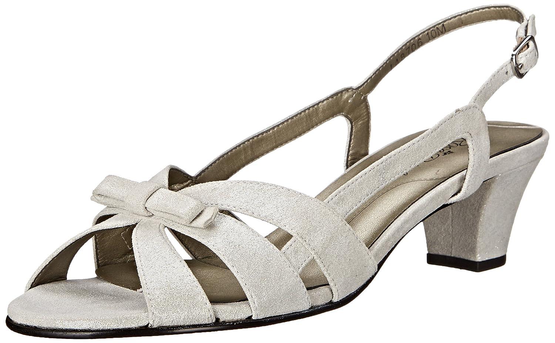 Rose Petals Women's Lela Dress Sandal B004OGW90U 8.5 2W US|Silver