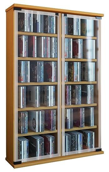 VCM Regal DVD CD Rack Medienregal Medienschrank Aufbewahrung ...