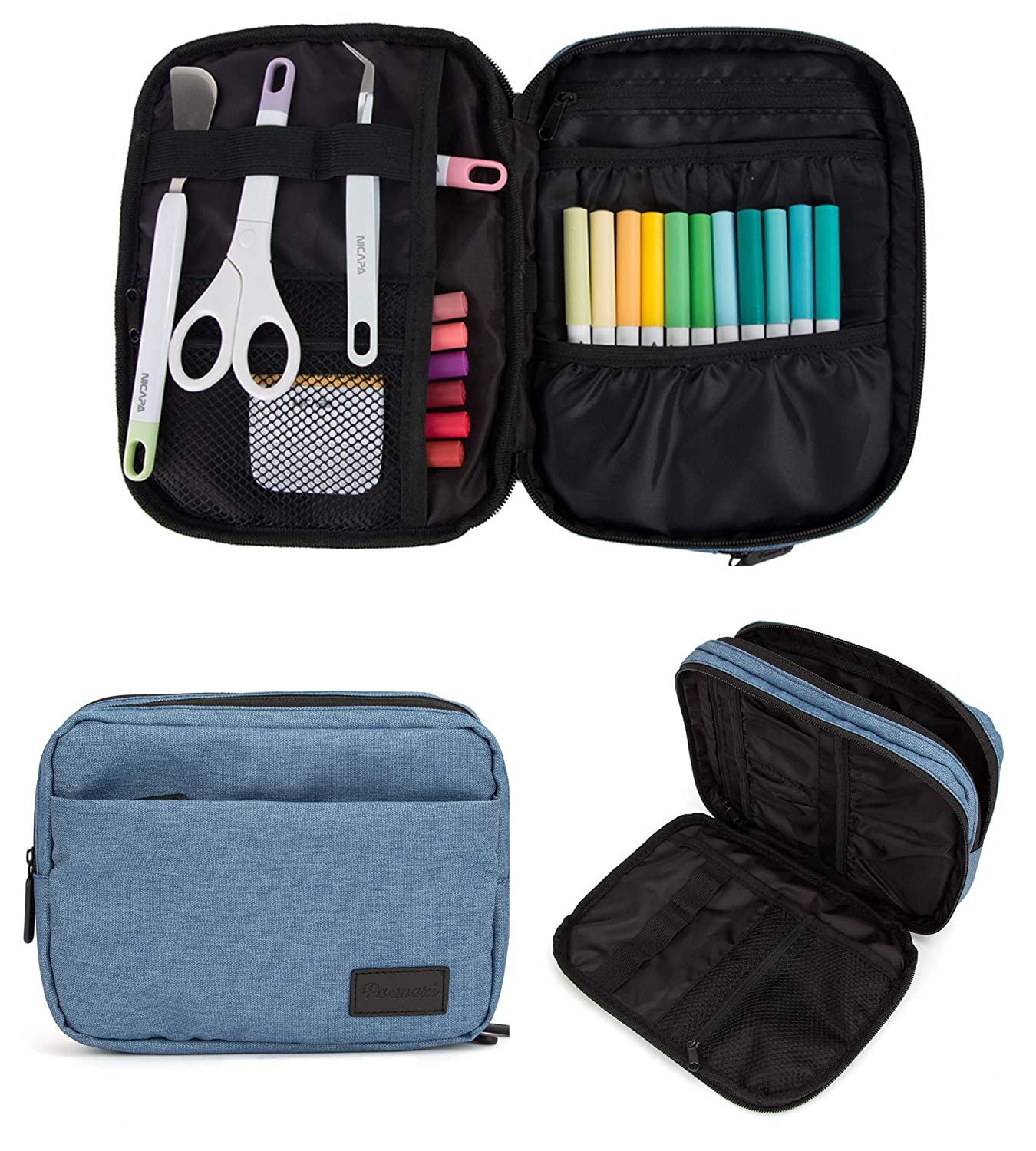 Carrying Bag for Cricut Easypress Accessories Double-Layer Organizer Case for Cricut Pen Set and Basic Tool Set Storage. Not Include Other Accessories