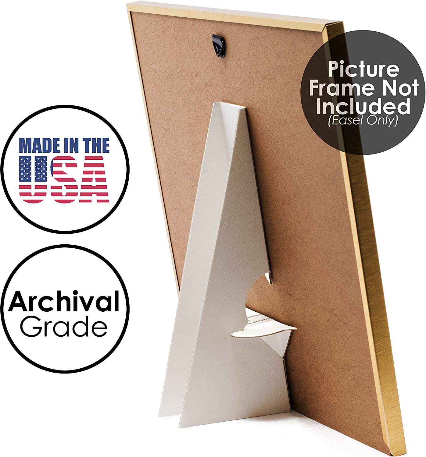 Display Your Signs Golden State Art Easel Back Self Stick Double Wing Crafts Pack of 50 Easy and Quick Application. Pictures Art 5 Inch White Prints Archival Quality Acid-Free