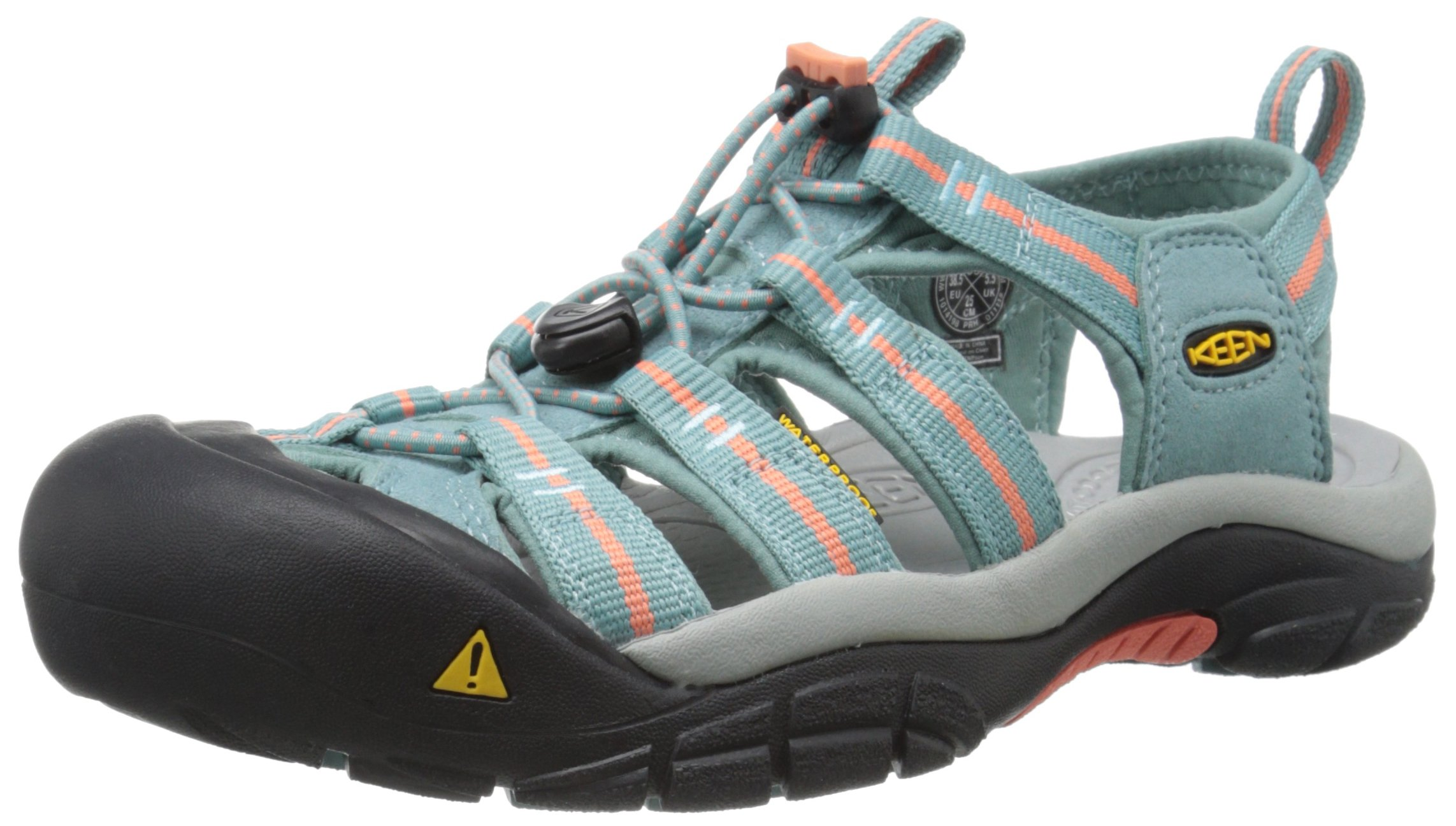 KEEN Women's Newport H2 Sandal, Mineral Blue/Fusion Coral, 5 M US