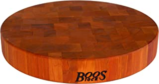 product image for John Boos Block CHY-CCB15-R Classic Collection Cherry Wood End Grain Round Chopping Block, 15 Inches Round x 2.5 Inches