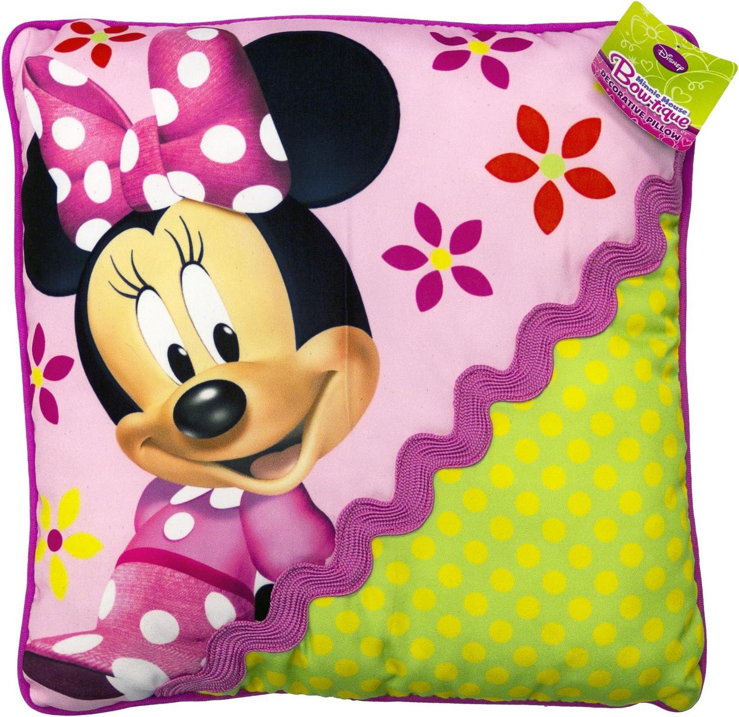 Disney Minnie Mouse Bowtique Garden Party Decorative Pillow