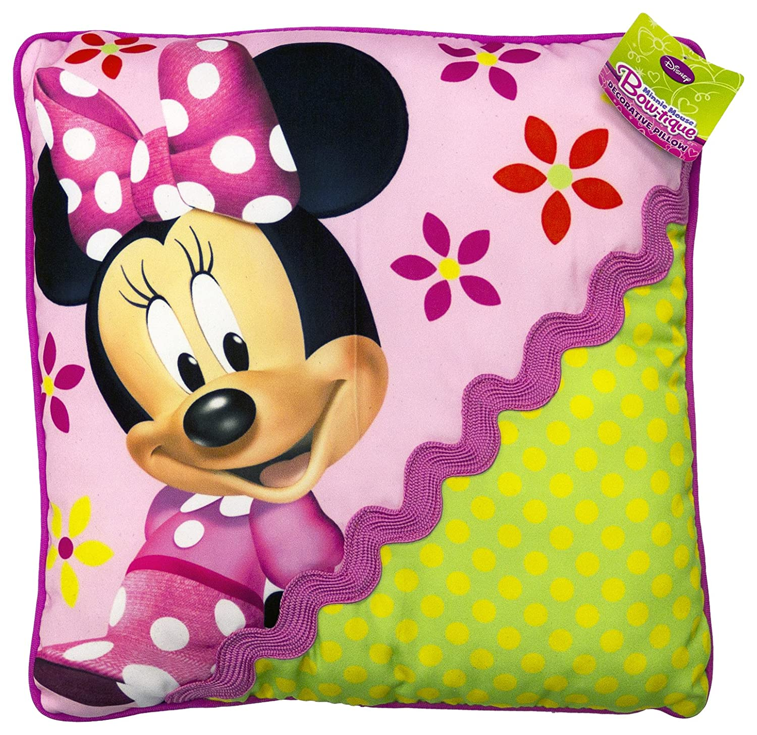 Disney Minnie Mouse Bowtique Garden Party Decorative Pillow