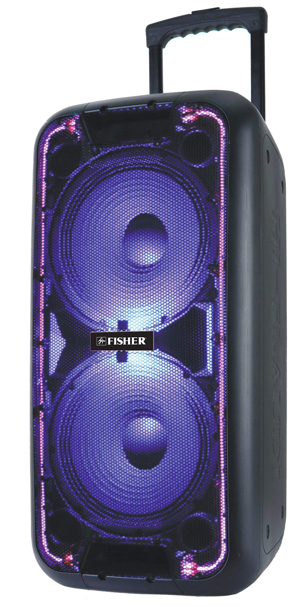 Fisher Bluetooth Double DJ 10-Inch Speaker w/Remote Control and Guitar Input