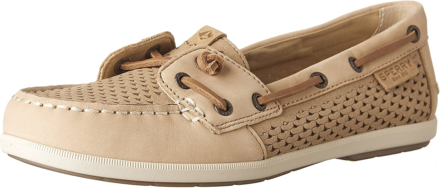 Sperry Womens Coil Ivy Leather Closed Toe Oxfords