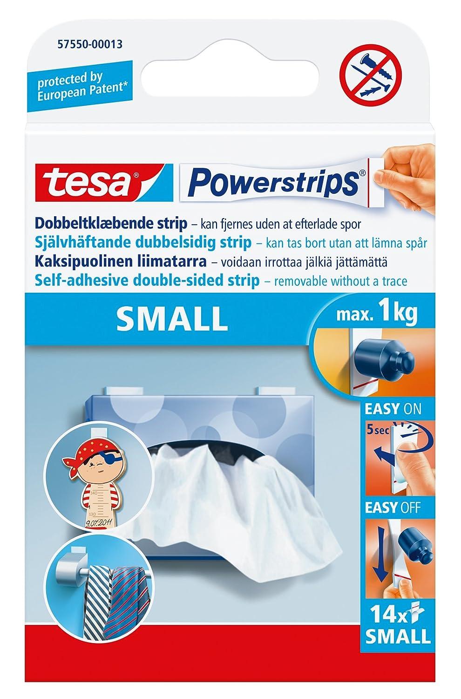 tesa UK Powerstrips Small Removable Self Adhesive Strips- 14 Strips Tesa® 57550-00013-01