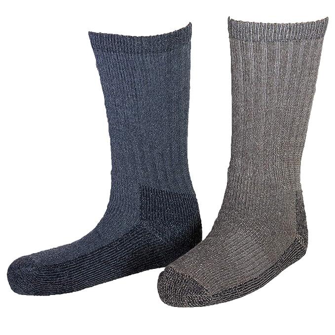 f97cfd6cf479b Woolrich Men's Ultimate Merino Wool Extreme Cold Socks 2pk Charcoal & Khaki  Large