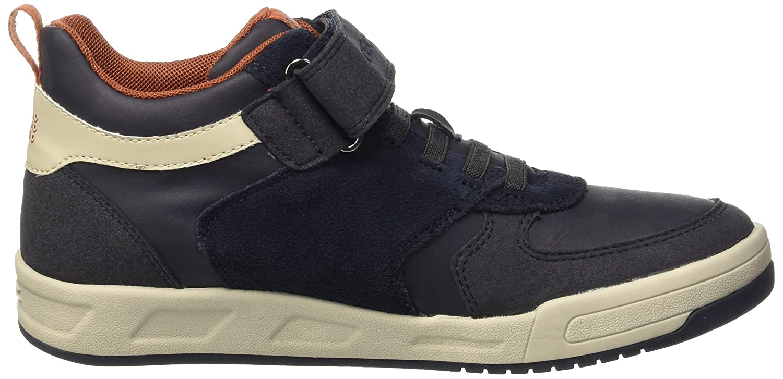 Geox J Rolk A, Sneakers Hautes Garçon, Blau (Navy/Off WHITEC0836), 34 EU