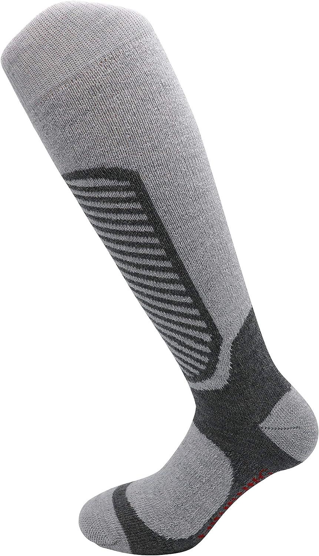 Qualit/é Made in South Tyrol Respirant 95/% Laine m/érinos pour Une Sensation sp/éciale de Naturel et de Confort Chaud Miribung Chaussettes de Ski Merino-Ski Doux