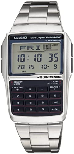 08f8e13b32c Image Unavailable. Image not available for. Colour  Casio Vintage Series  Digital Grey Dial Men s Watch ...