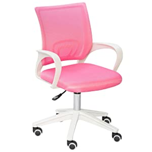 Alex Daisy Mesh Study Chair - Pink