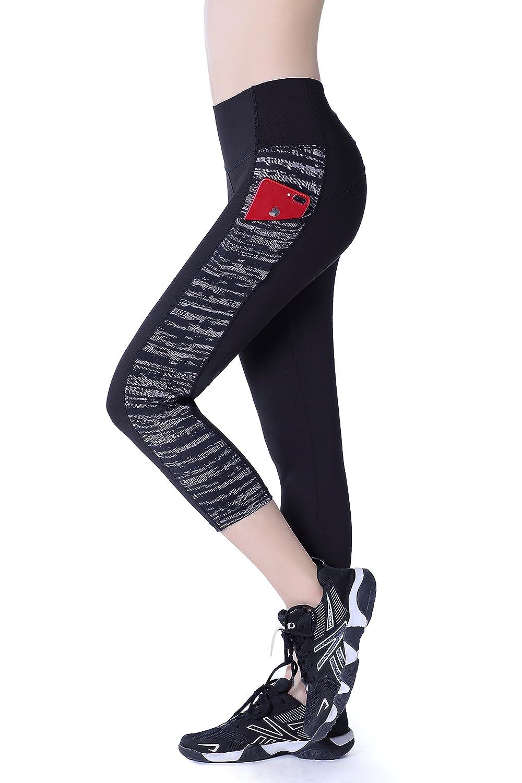 Nidalee Womens Workout Running Leggings Yoga Pants Athletic Capri