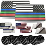 """Aootf American Flag Decals- USA Patriotic Aluminum Sticker, 2 Pack 3 x 5"""", Perfect for Car, Truck, Vehicle, SUV, Bumper or Ba"""