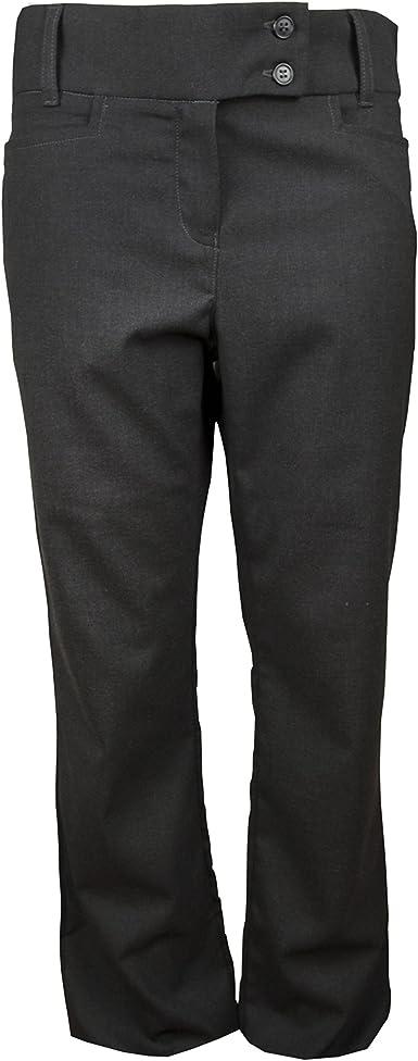Girls Grey Skinny School Trousers Stretch women ladies office work trousers