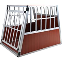Jalano Hundetransportbox XL Auto Gitterbox große Hunde Alu Hundebox Kofferraum