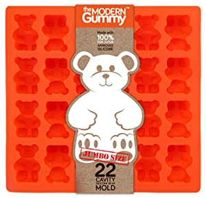 JUMBO size GUMMY BEAR Mold by the Modern Gummy + email Recipe PDF, PROFESSIONAL GRADE PURE LFGB SILICONE, 24 cavity, Candy, Soap Molds, Gelatin Shots, Cupcake topper, Chocolate, Ice tray