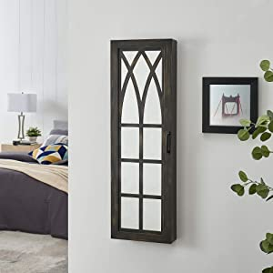 FirsTime & Co. Rustic Arch Jewelry Armoire Accent Wall Mirror, 43
