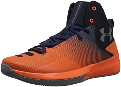 Under Armour Mens Rocket 3 Basketball Shoe, Cadet (401)/Explosive, ...